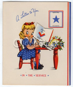 US Military Soldiers Appreciation Vintage WWII Victory Patriotic Greeting Card