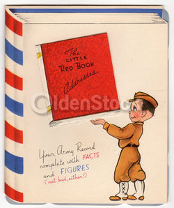 US Military Veterans Appreciation Cute Vintage WWII Patriotic Greeting Card