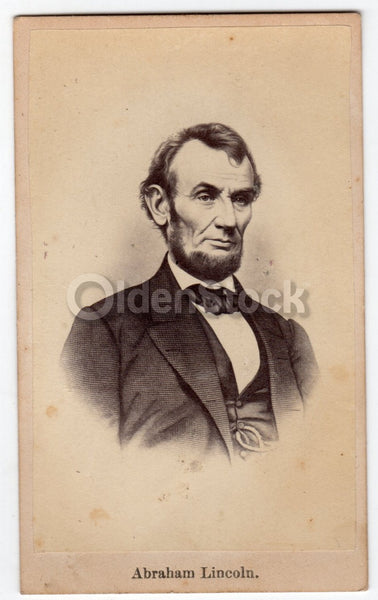 President Abraham Lincoln American Hero Antique CDV Photograph