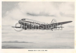 Douglas DC-3 Transport Airliner Vintage Aviation Spotters Photo Card