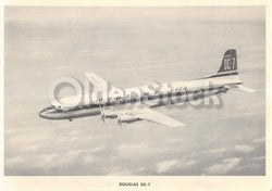 Douglas DC-7 Transport Airliner Vintage Aviation Spotters Photo Card