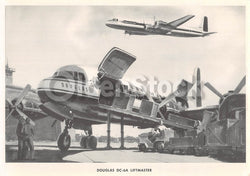 Douglas DC-6A Liftmaster Transport Airliner Vintage Aviation Spotters Photo Card