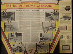 W. T. Grant Driver Home Workshop Power Tools Vintage 1930s Advertising Sales Poster