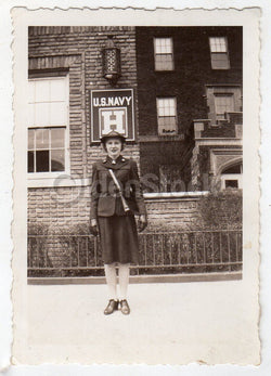 Waves Navy Hospital Woman in Uniform Vintage WWII Military Snapshot Photos Lot