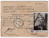 WWII German Occupied Channel Islands Original Vintage Guernsey Passport ID Card