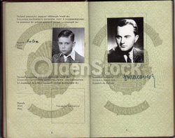 George Macovescu Romanian Ambassador Politician Diplomatic Passport Document