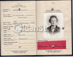 Cancelled Canadian Passport 196os Cold War Doctor - Rome, Jamaica, Indonesia