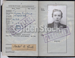 Humorous Name I. B. Quick Cancelled British Passport Travel Document 1960