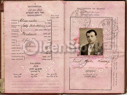 Cancelled British Israeli Passport Document 1939 WWII France Jewish Refugee