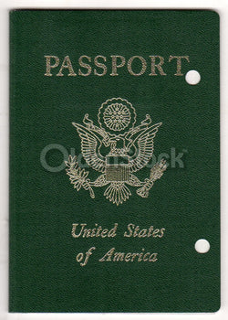 Rare Salesman Sample Vintage Obsolete US Passport Travel Document