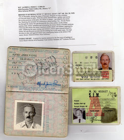 WWII Bronze Star Purple Heart War Hero Cancelled Cold War Passport Travel Docs