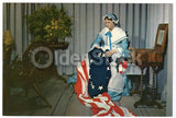 Betsy Ross American Flag Washington DC Vintage 1950s Jumbo Postcard