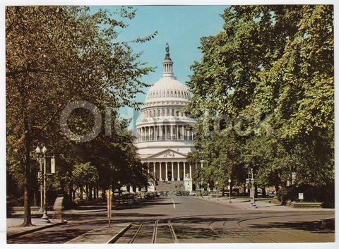 US Capitol Building Washington DC Vintage 1950s Jumbo Postcard