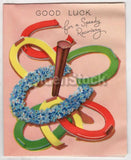 Good Lucky Horseshoes Vintage Graphic Art Gell Well Card