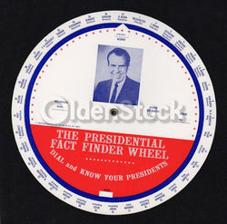 Richard Nixon Presidential Fact Finder Wheel Vintage Campaign Advertising