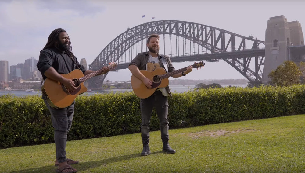 WATCH BUSBY MAROU PERFORM UNDER THE SYDNEY HARBOUR BRIDG