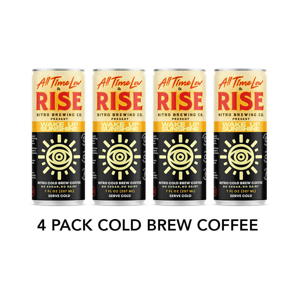 4 Pack RISE Nitro Cold Brew Coffee + CD