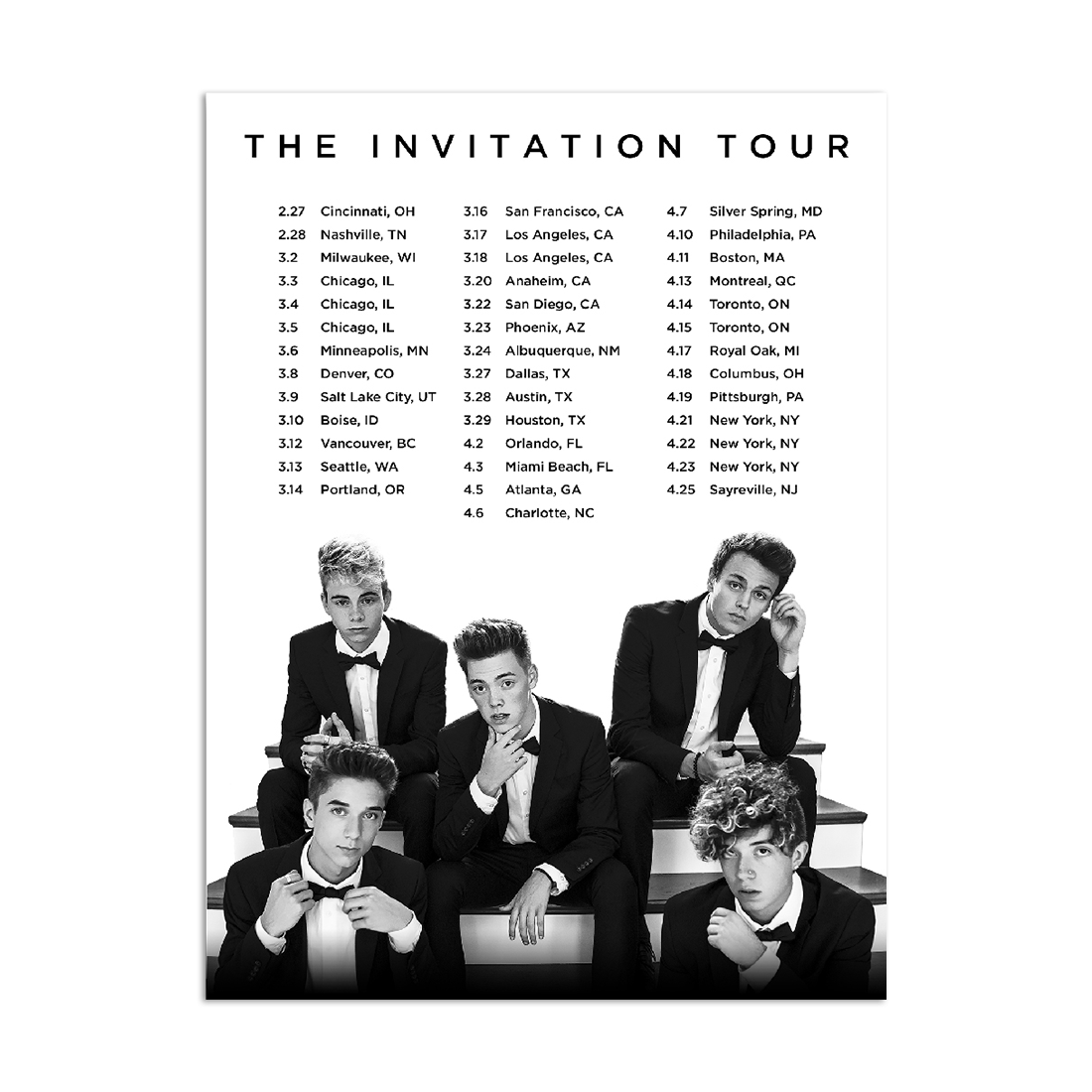Invitation tour poster why dont we warner music australia store invitation tour poster stopboris Choice Image