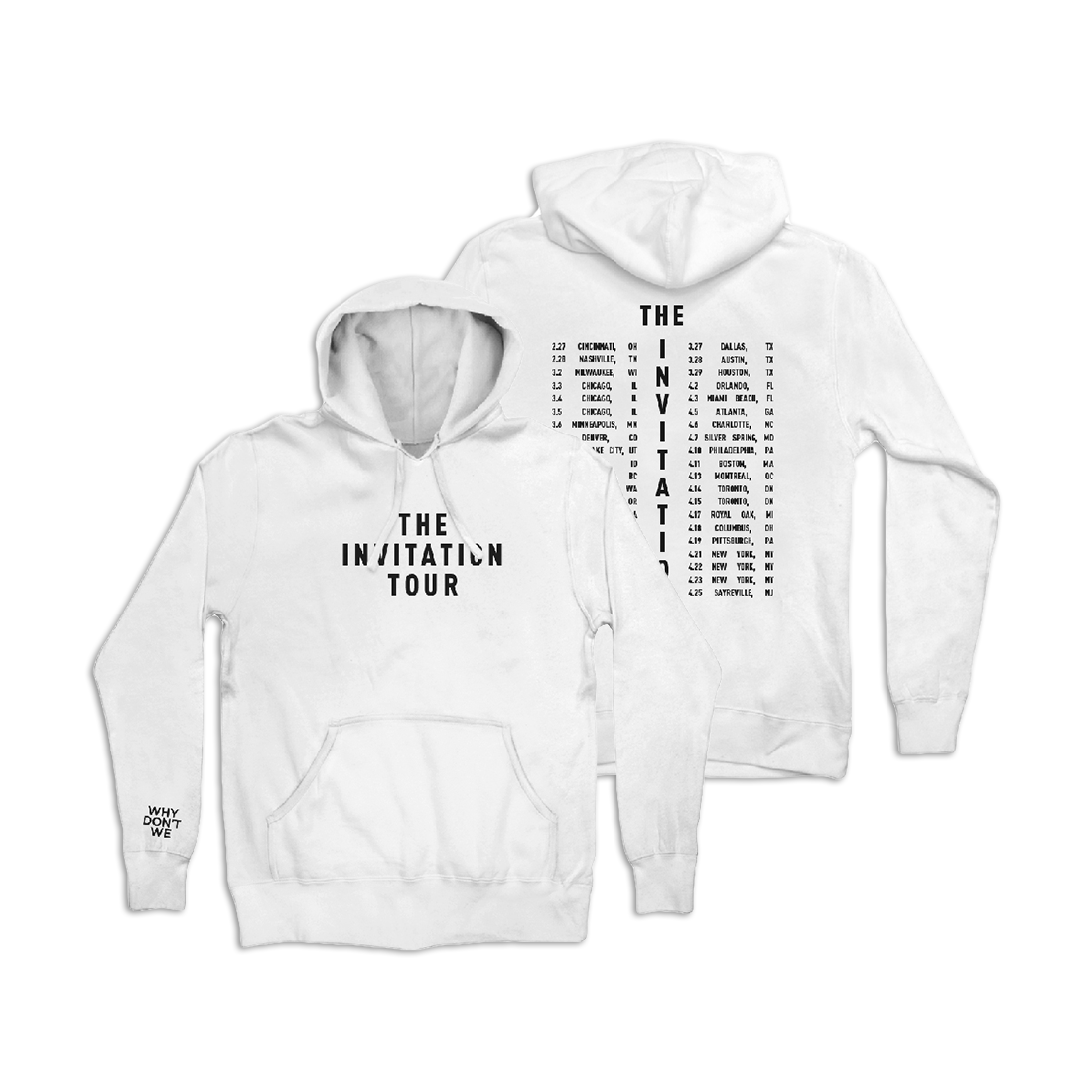 8851bd8a7 Invitation Tour Hoodie (White). $77.00. Brand: Why Don't We