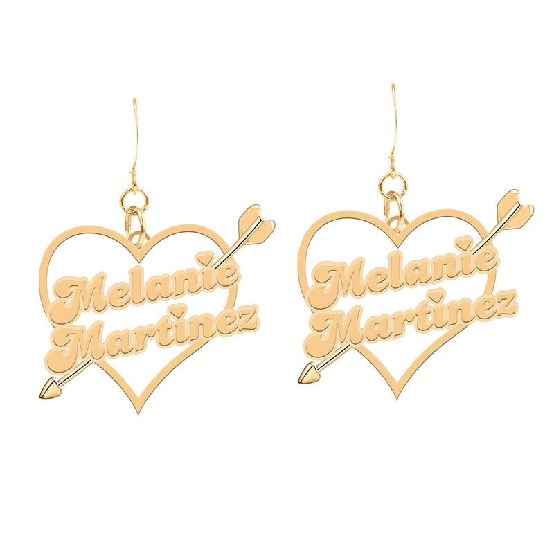 MM Heart Arrow Earrings
