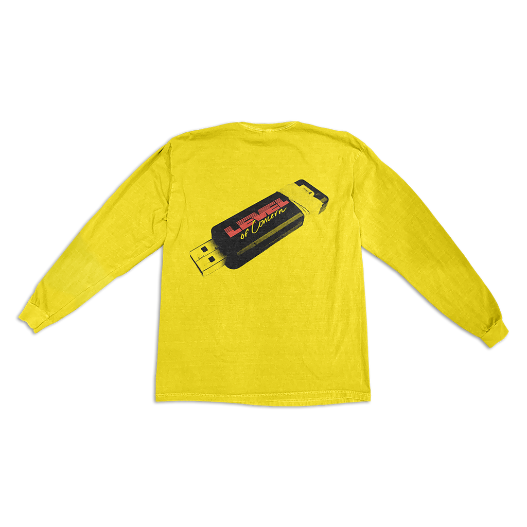 Yellow Tech Long Sleeve TShirt