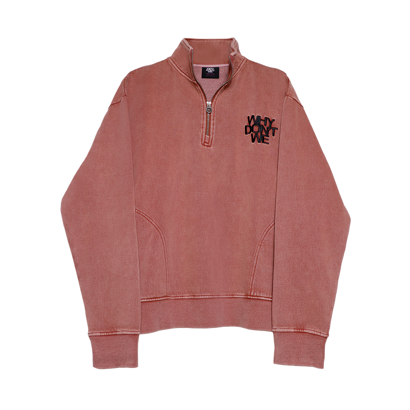 Why Don't We Quarter Zip Fleece (Red)