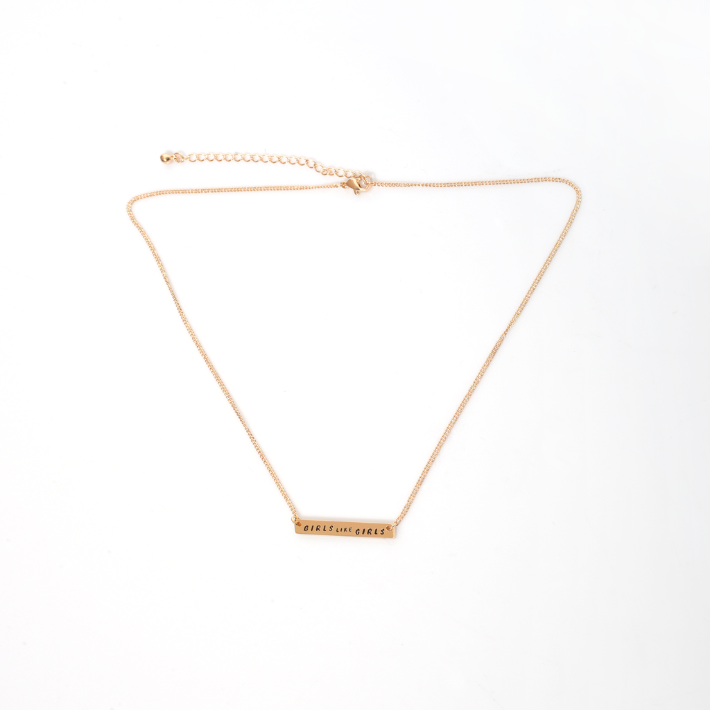 GLG Gold Bar Necklace