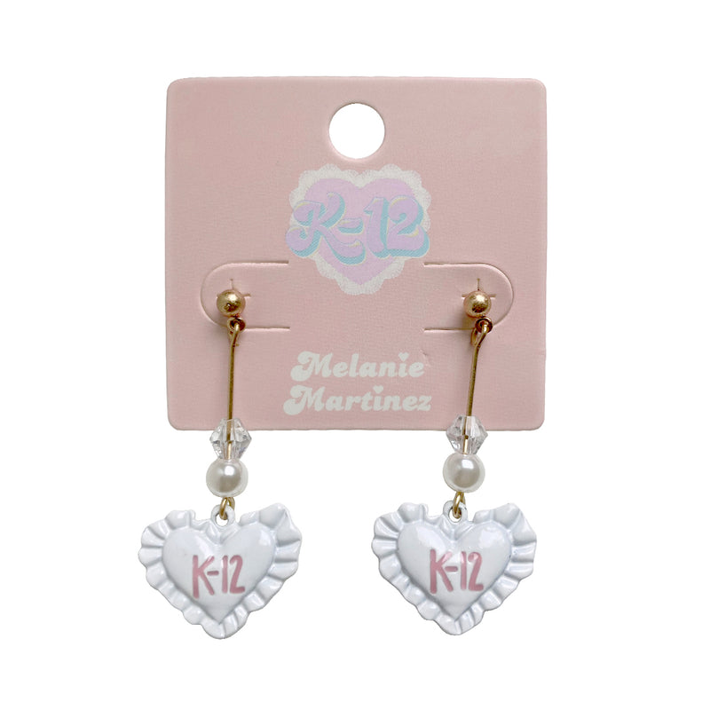 K12 Ruffle Heart Earrings