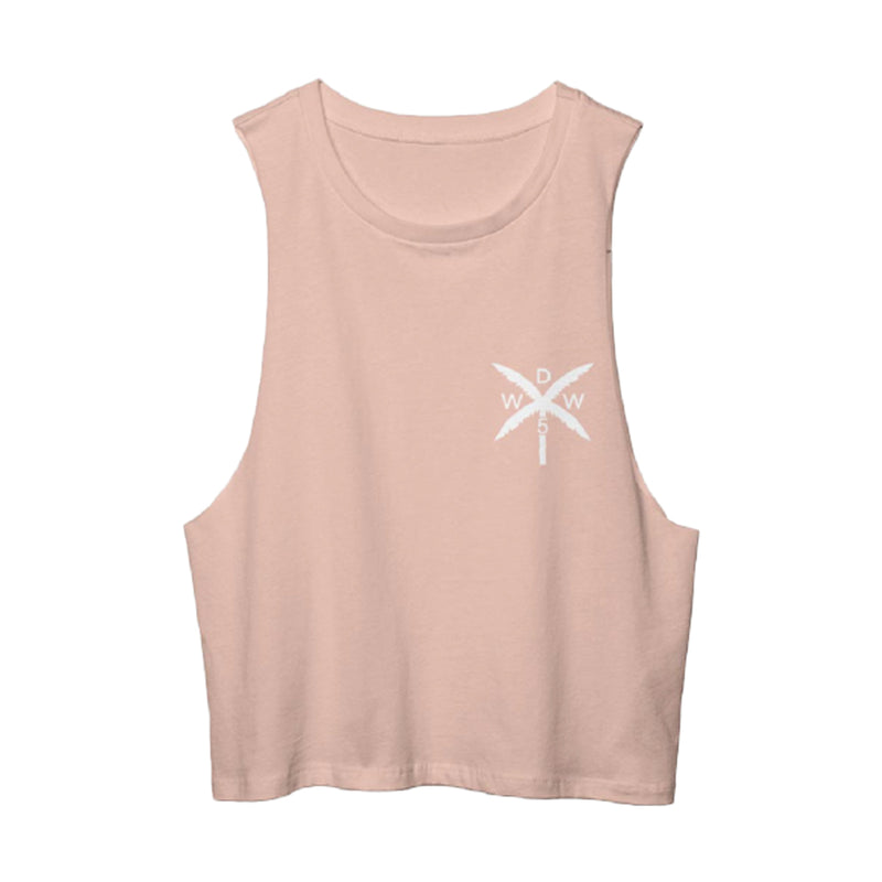 Palm Cross Tank Top (Girls)