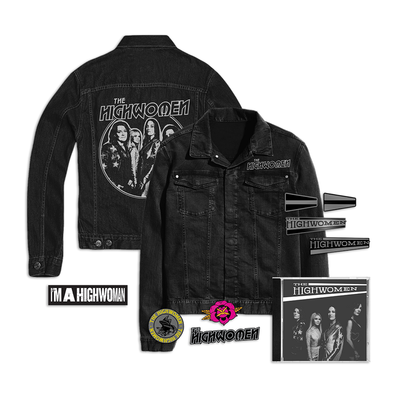 Album Package A: Limited Edition Denim Jacket + Patches + Pins + Sticker
