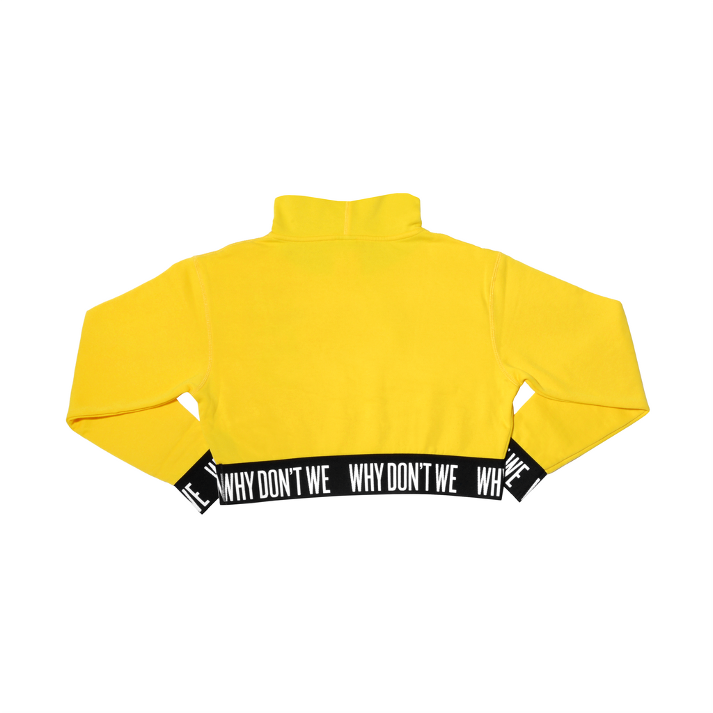 Crop Top Hoodie (Yellow)