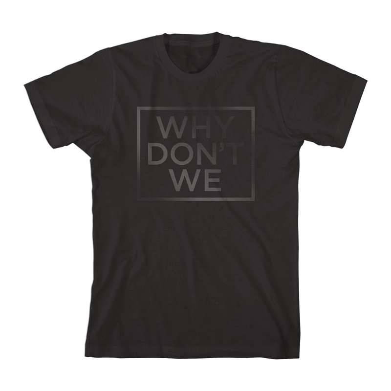 Why Don't We Black Print T-Shirt