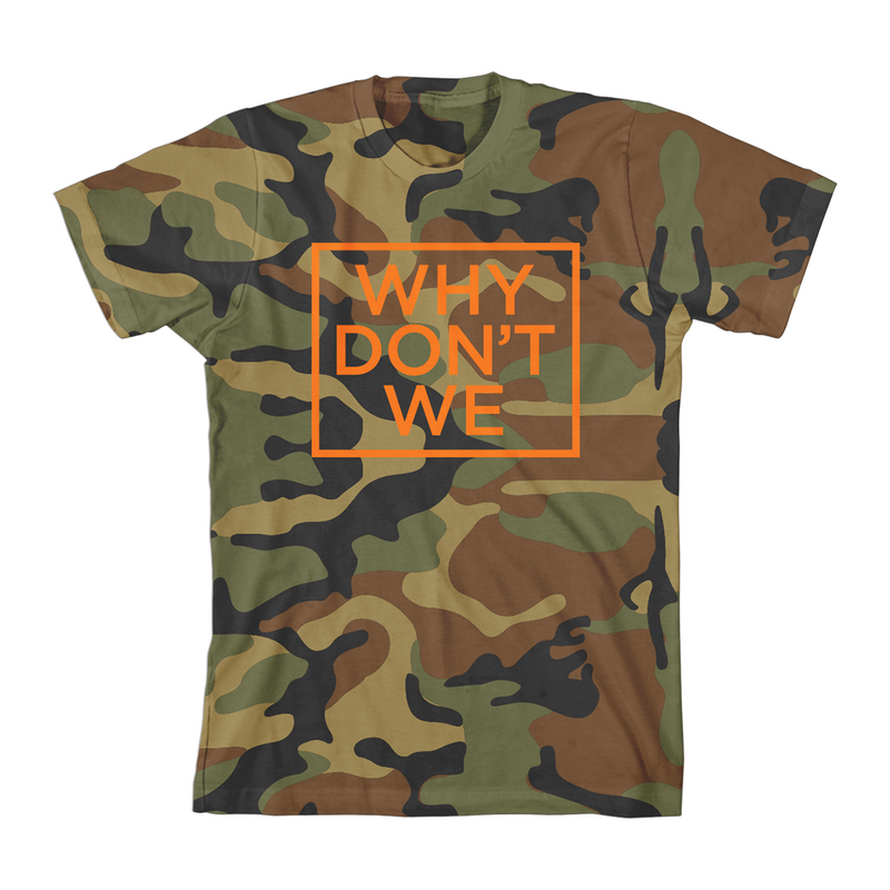 Why Don't We Camo T-Shirt (Orange)