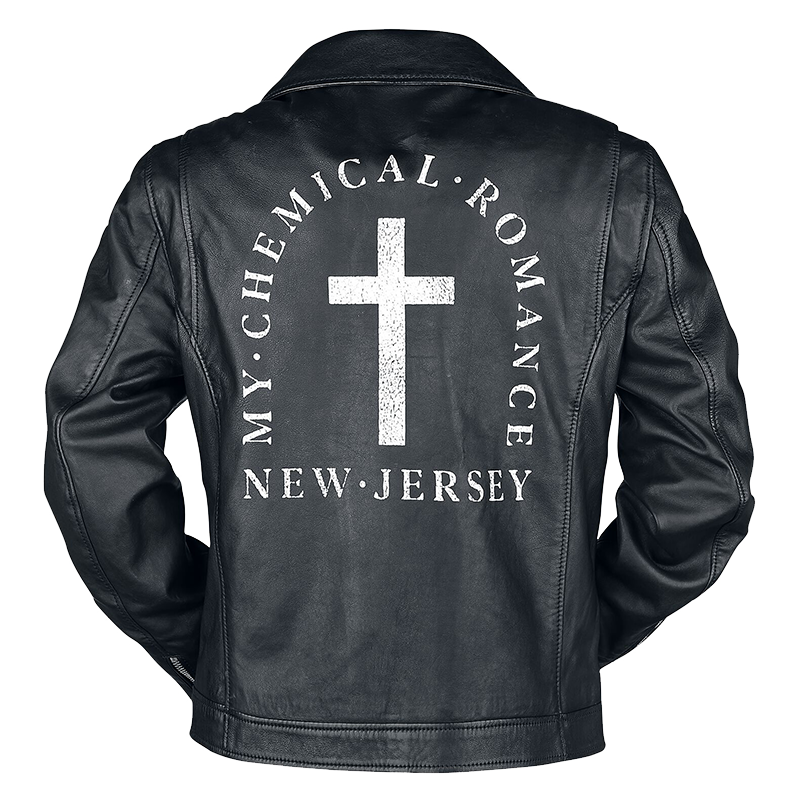 My Chemical Romance NJ Cross Leather Motorcycle Jacket