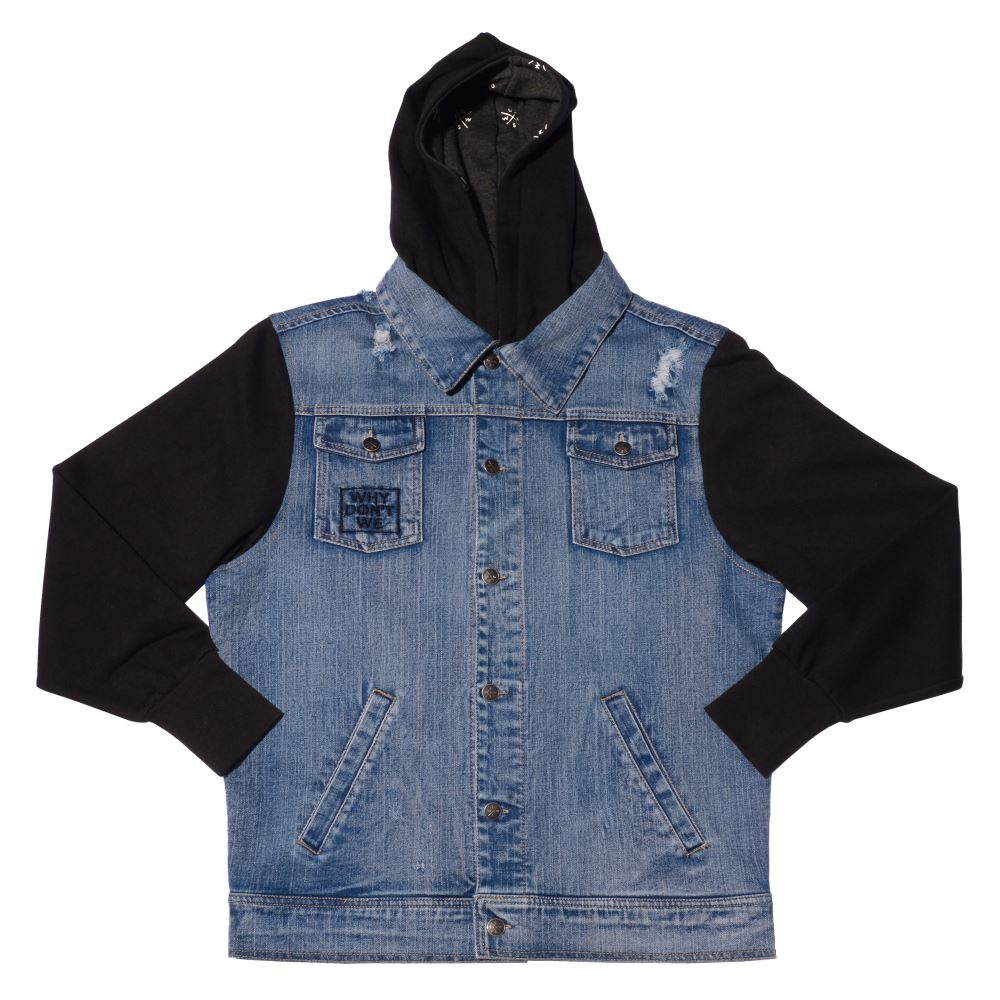 Logo Denim Hooded Jacket