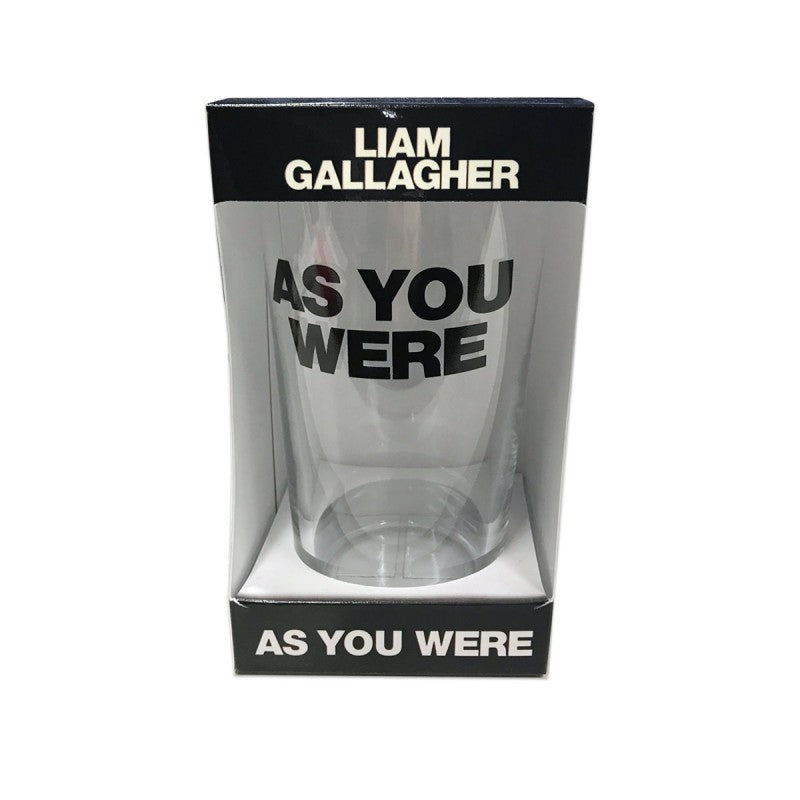 As You Were Pint Glass