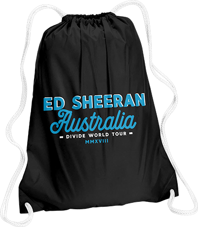 Ed Sheeran Australia Drawstring Bag