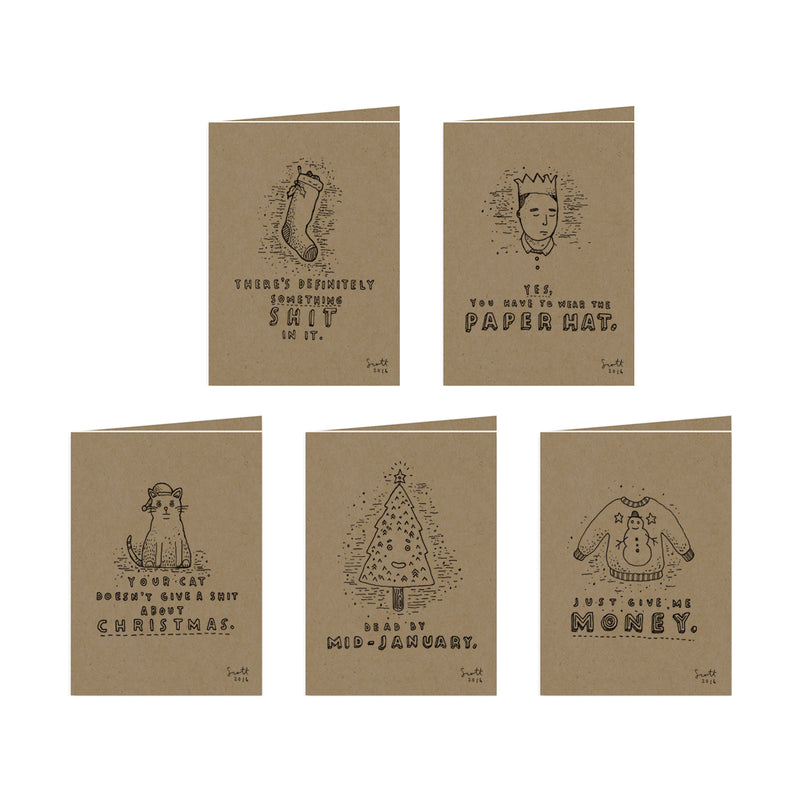 5 Christmas Cards Pack