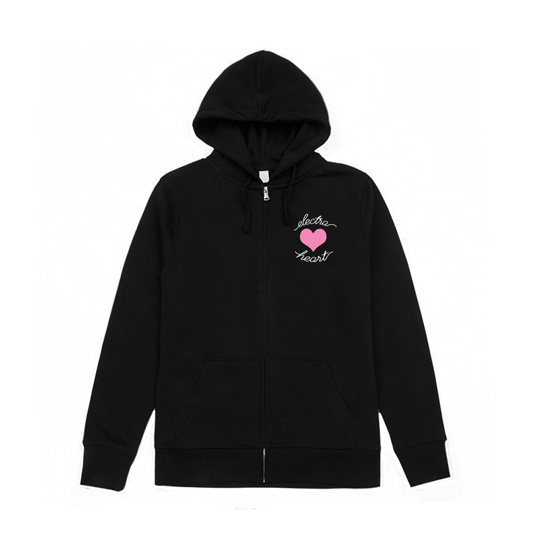 Electra Heart Sweatsuit Zip-Up Hoodie Black