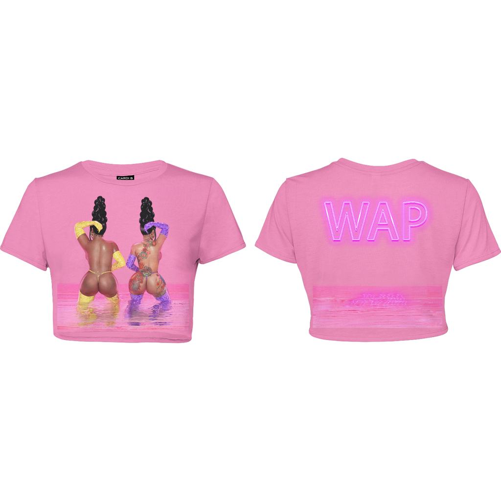 WAP (Water Art) Crop Top (Pink) + Digital Single