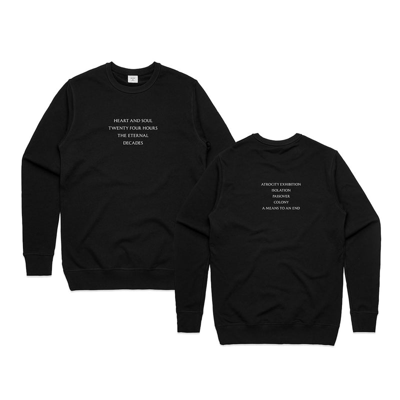 Closer Tracklist Black Sweatshirt