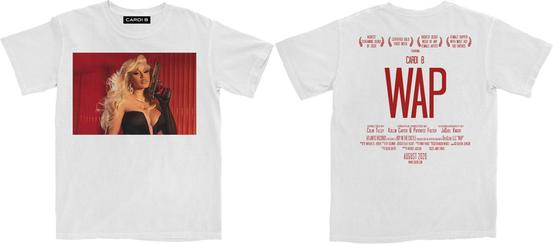 WAP Movie T-Shirt (White) + Digital Single