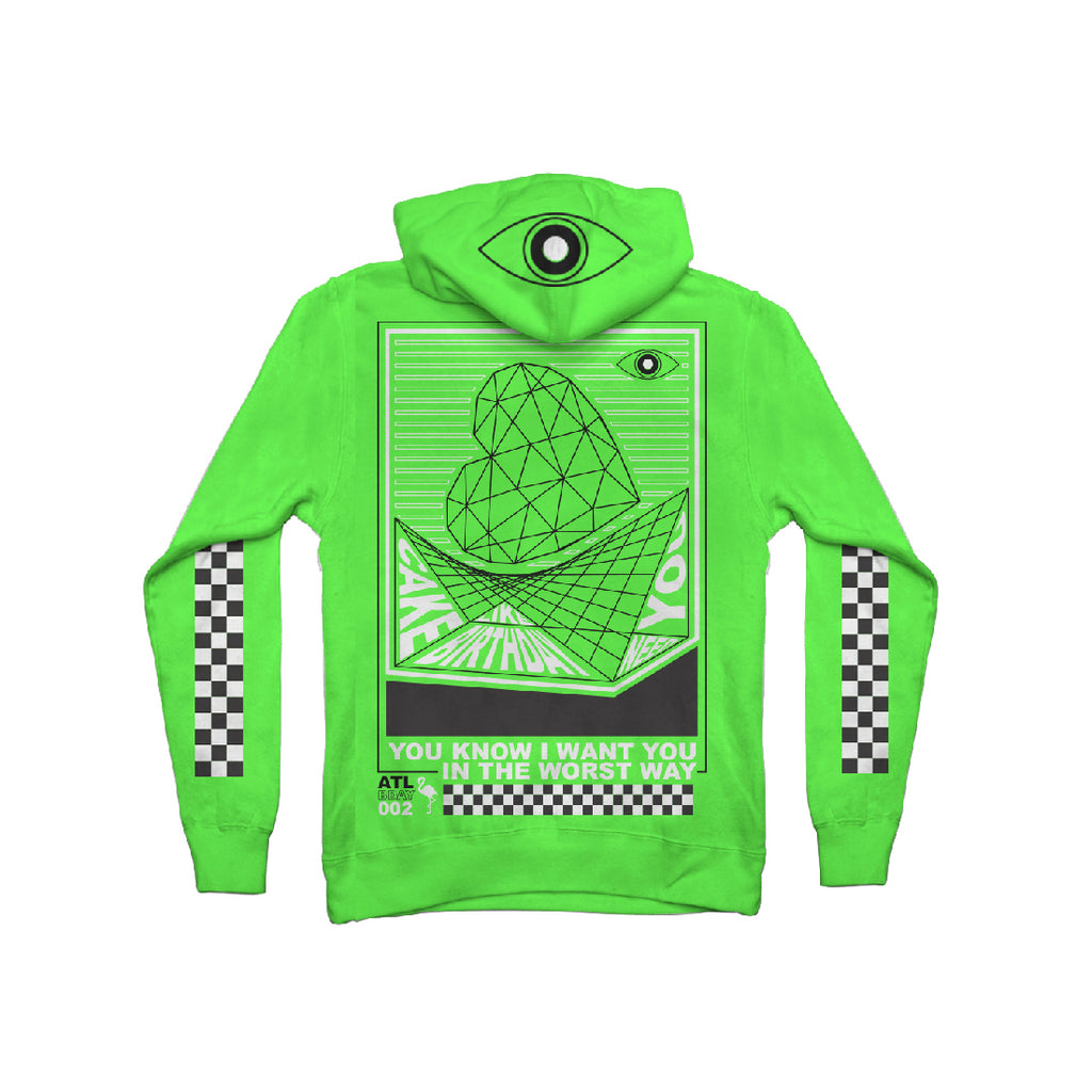 Checkered Hoodie (Green)