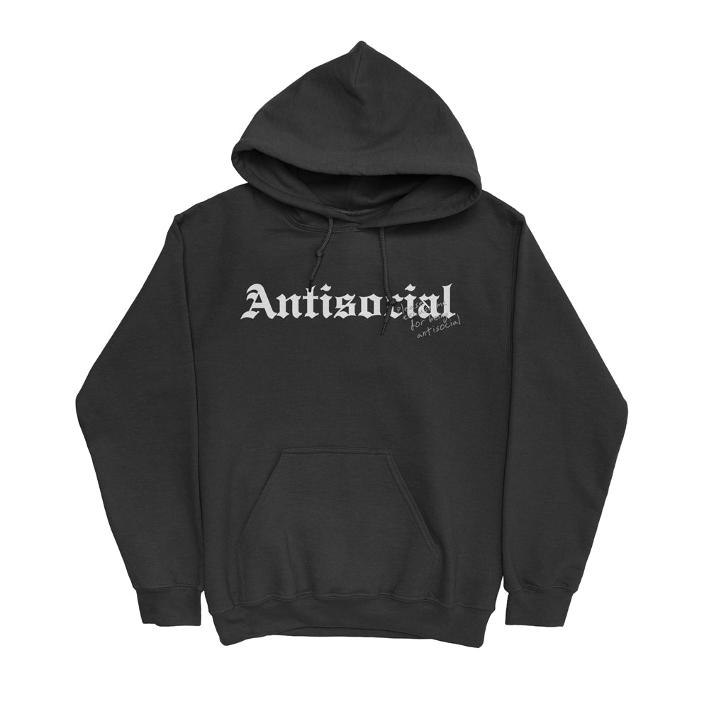 Antisocial Hoodie (Black) + Digital Album