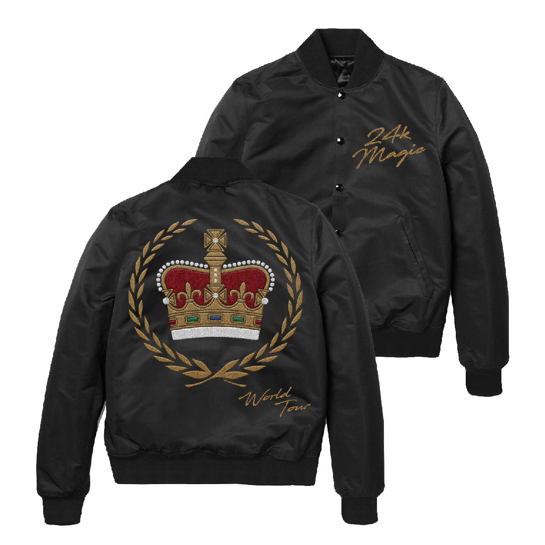Embroidered Satin Crown Jacket Warner Music Australia Store
