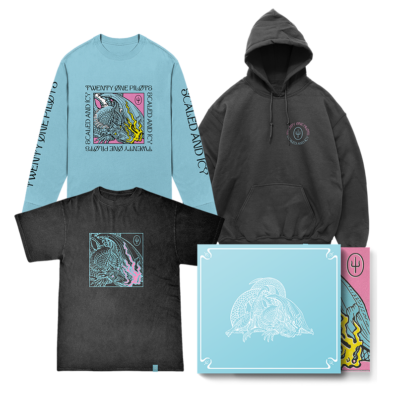 twenty one pilots scaled and icy blue slipcase cd hoodie