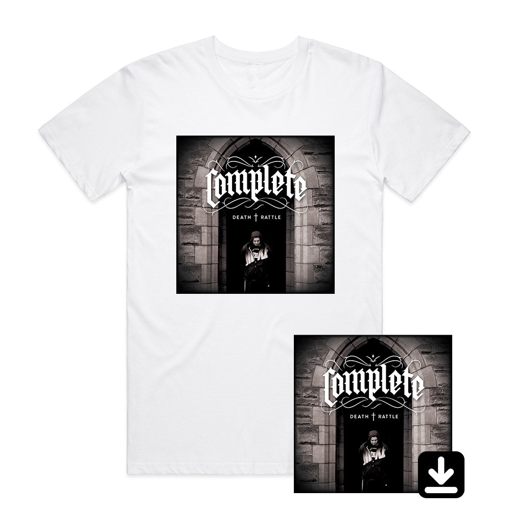 Death Rattle (Download + White T-Shirt Bundle)