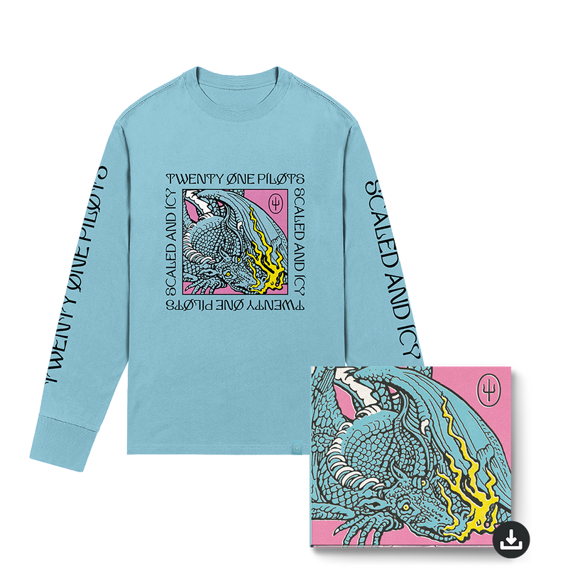 twenty one pilots scaled and icy digital longsleeve