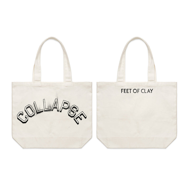 Collapse White Tote Bag + FEET OF CLAY Download
