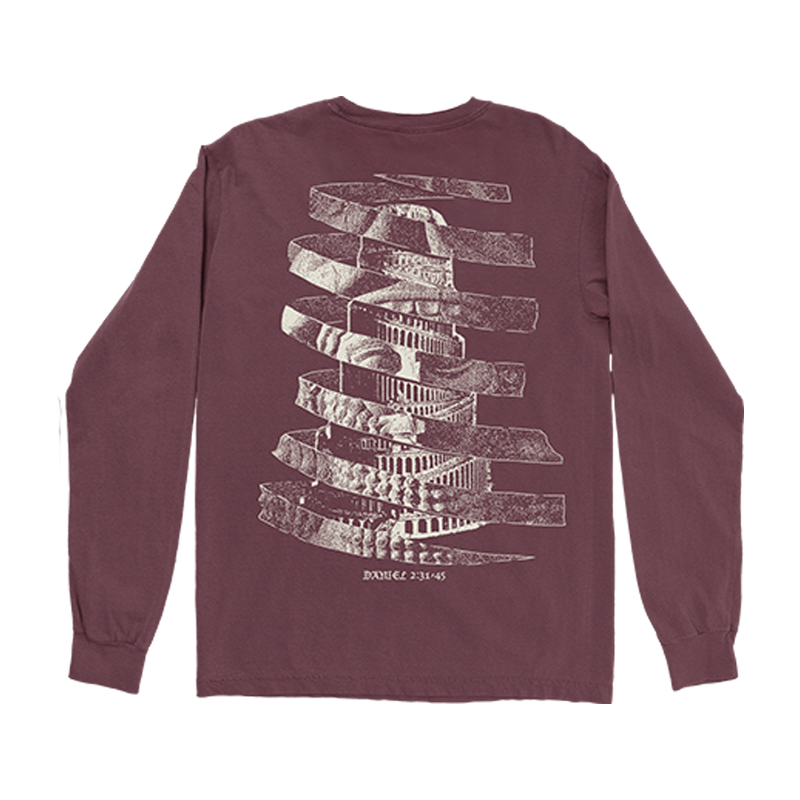 Spiral Majesty Longsleeve Burgundy T-Shirt + FEET OF CLAY Download